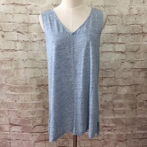 St. Tropez West Linen Sleeveless Tunic Tank Shirt